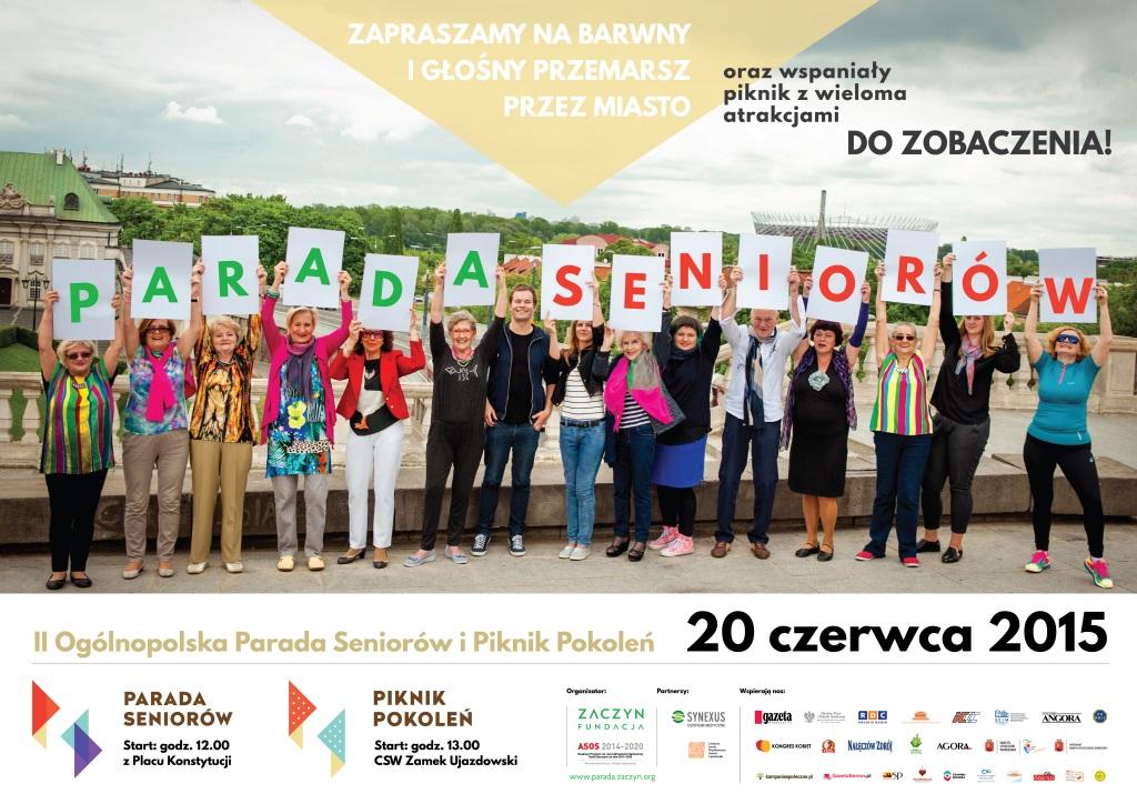 II Ogólnopolska Parada Seniorów przejdzie ulicami Warszawy już 20 czerwca