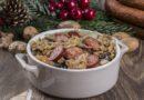 Świąteczny bigos z grzybami i kiełbasą
